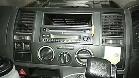 How to remove the factory radio from a VW Transporter