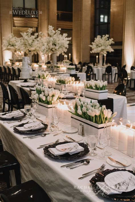 Chic Modern Black And White Wedding At One King West