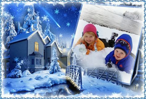 Snow Winter Frame for Facebook Picture Photo Frames
