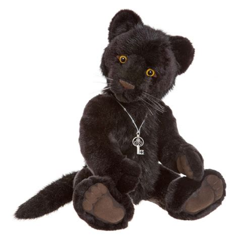 Charlie Bears Sheba 2016 Panther Soft Toy | FREE UK Delivery