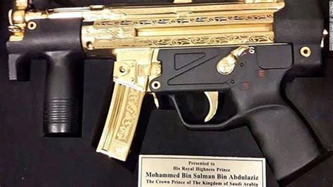 When Pakistan gifted a gold-plated submachine gun to Saudi