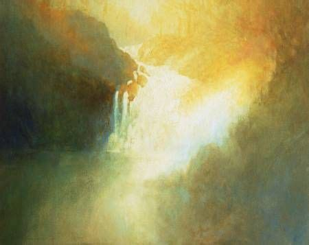 Oil Painting of Waterfall | Painting, Painting gallery