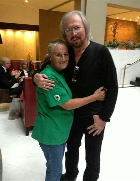 Barry & his sister Lesley | Barry gibb, Andy gibb, Bee gees
