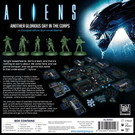 ALIENS ANOTHER GLORIOUS DAY IN THE CORPS - GIOCO DA TAVOLO