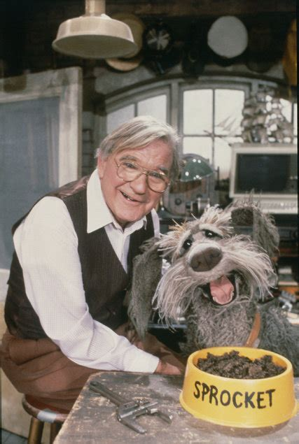 """Gerard Parkes with Sprocket on """"Fraggle Rock"""