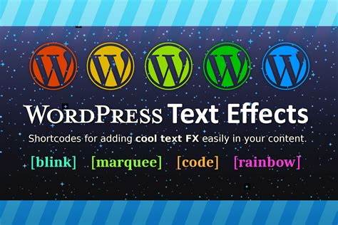 WordPress Text Effects Plugin - Add Animation Effects To