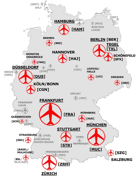 Airlines and most important airports in Germany - Vaga Tours