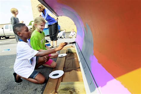 Crim Elementary students paint plows - The Blade