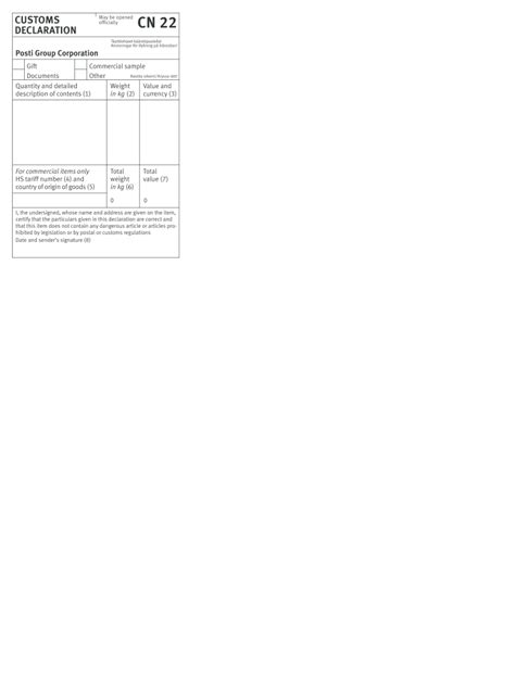 Cn22 Form - Fill Online, Printable, Fillable, Blank