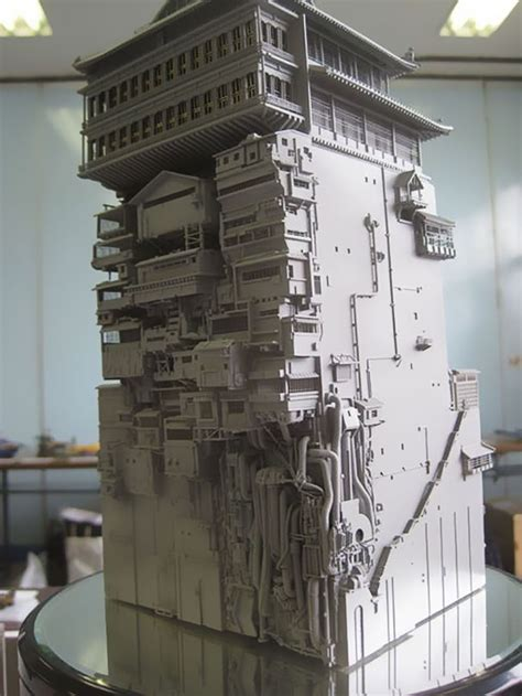 Incredibly Detailed Model Of The Bath House From Miyazaki